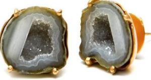 stud_earrings_earring_geode_setting_raw_agate_gold_grey_tan_druzy